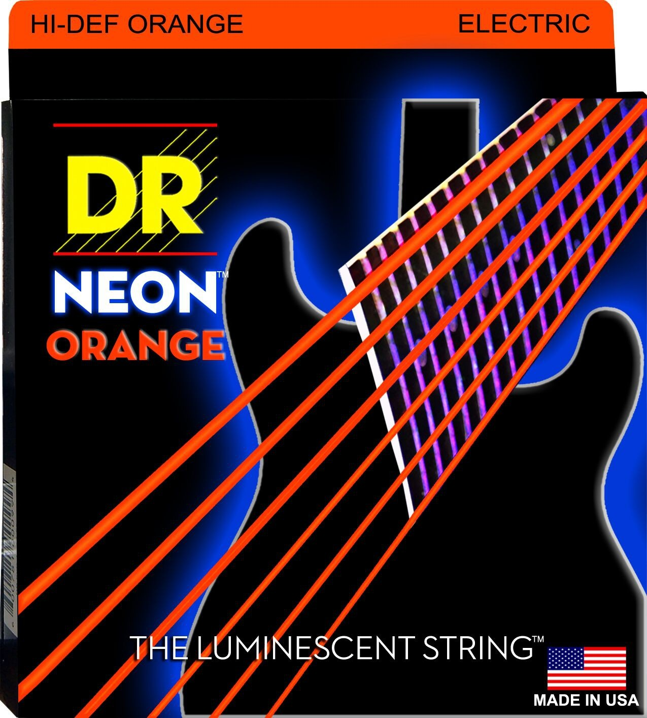 cordes de guitare électrique DR Neon Orange